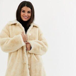 Sisters Outerwear Teddy Belted Faux Fur Jacket